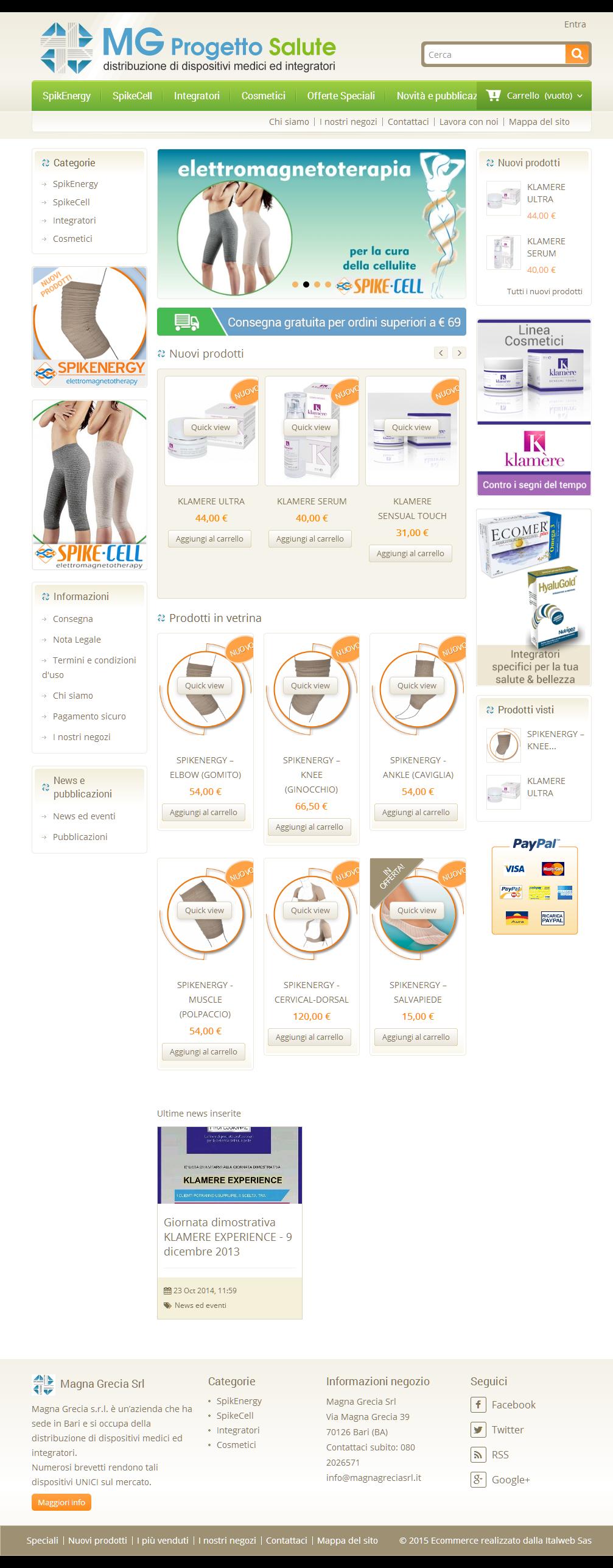 E-commerce - Mg Progetto Salute