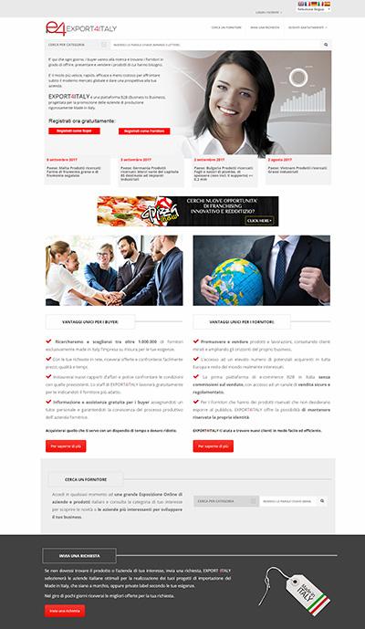 export4italy, italweb, cliente, sito dinamico, marketplace, software autogestito, software marketplace, amazon,wordpress, contatti, news